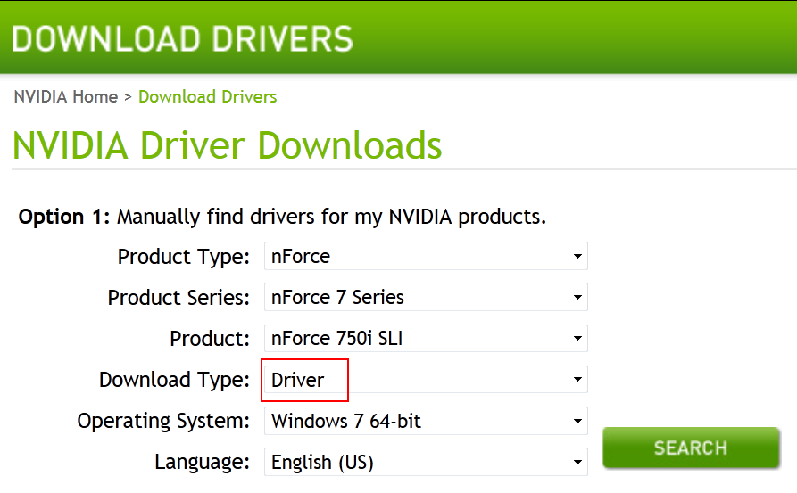 to install Nvidia NVRaid, download the driver